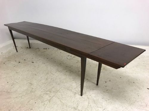Large  French Narrow Dining Table from Convent - b93